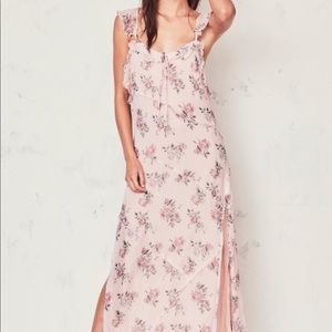 Love Shack Fancy Sally long Flowy dress
